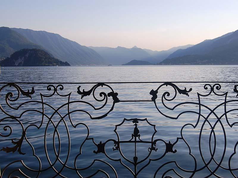 Ein Blick auf den See von der Villa aus