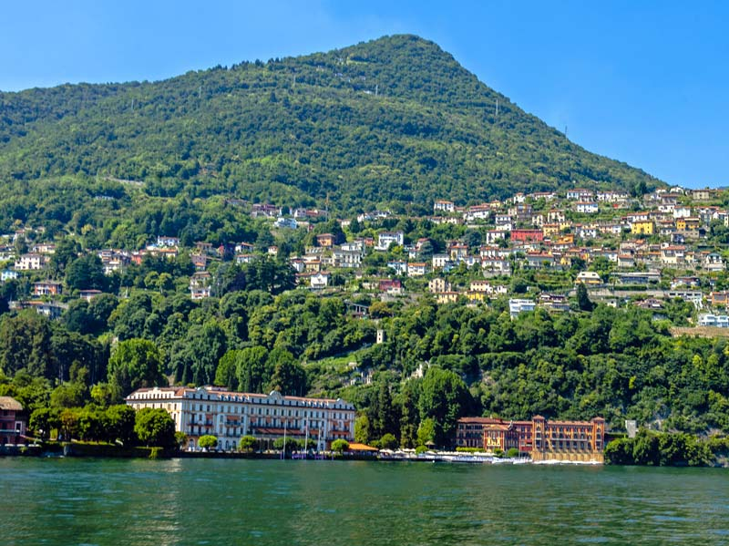 View of Villa d'Este from Lake Como