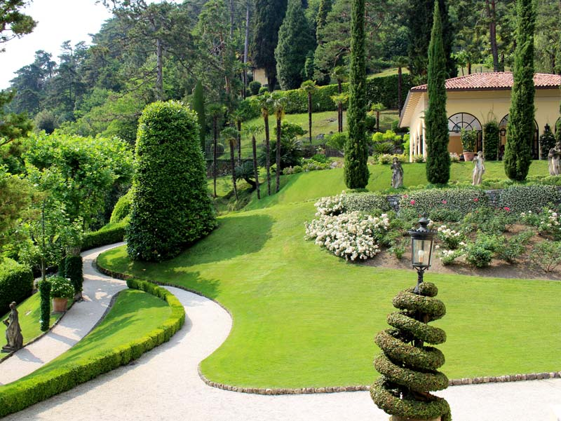 The gardens of Villa Balbianello