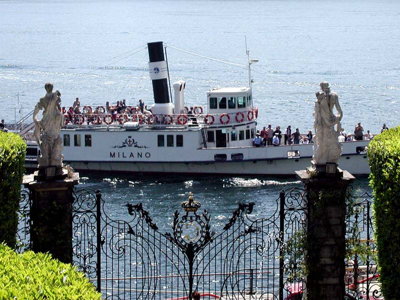 Boat to Villa Carlotta, Lake Como