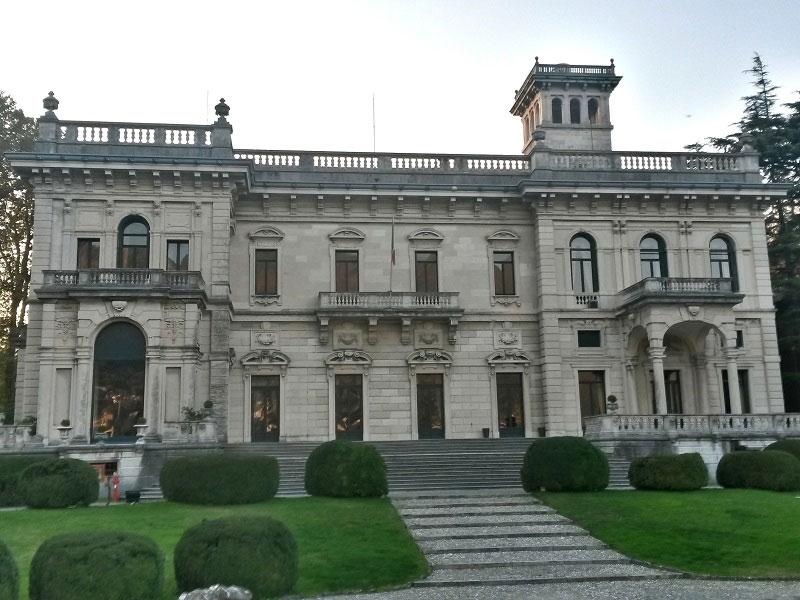 Facade of Villa Erba, Cernobbio, Lake Como