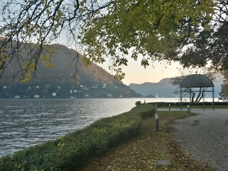 Lakefront of Villa Erba