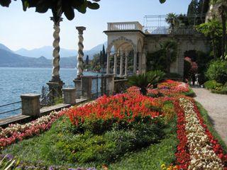 The gardens of Villa Monastero in bloom