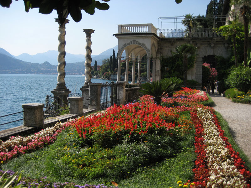 The gardens of Villa Monastero in bloom
