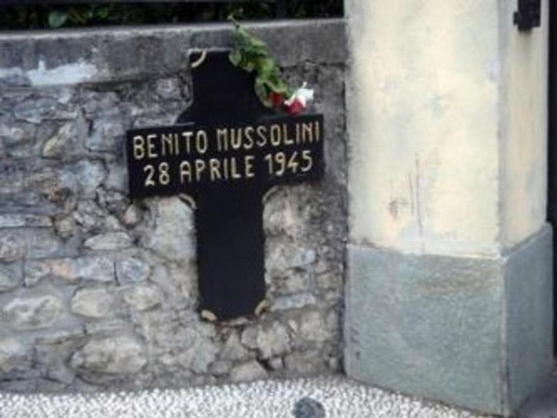 Mussolini's death place
