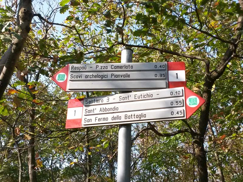 Routes of Spina Verde Park, Como