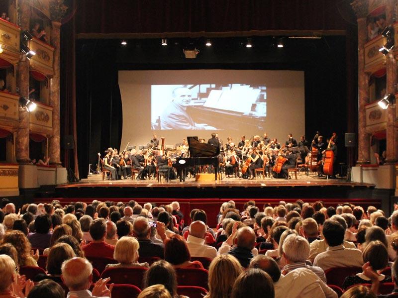 Interiors of Teatro Sociale, Como