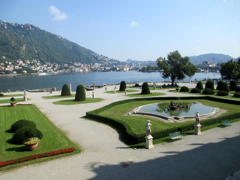 Der italienische Garten der Villa Olmo