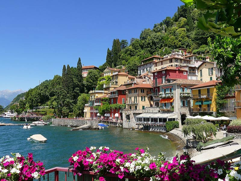 Varenna, Lake Como, in a beautiful sunny day