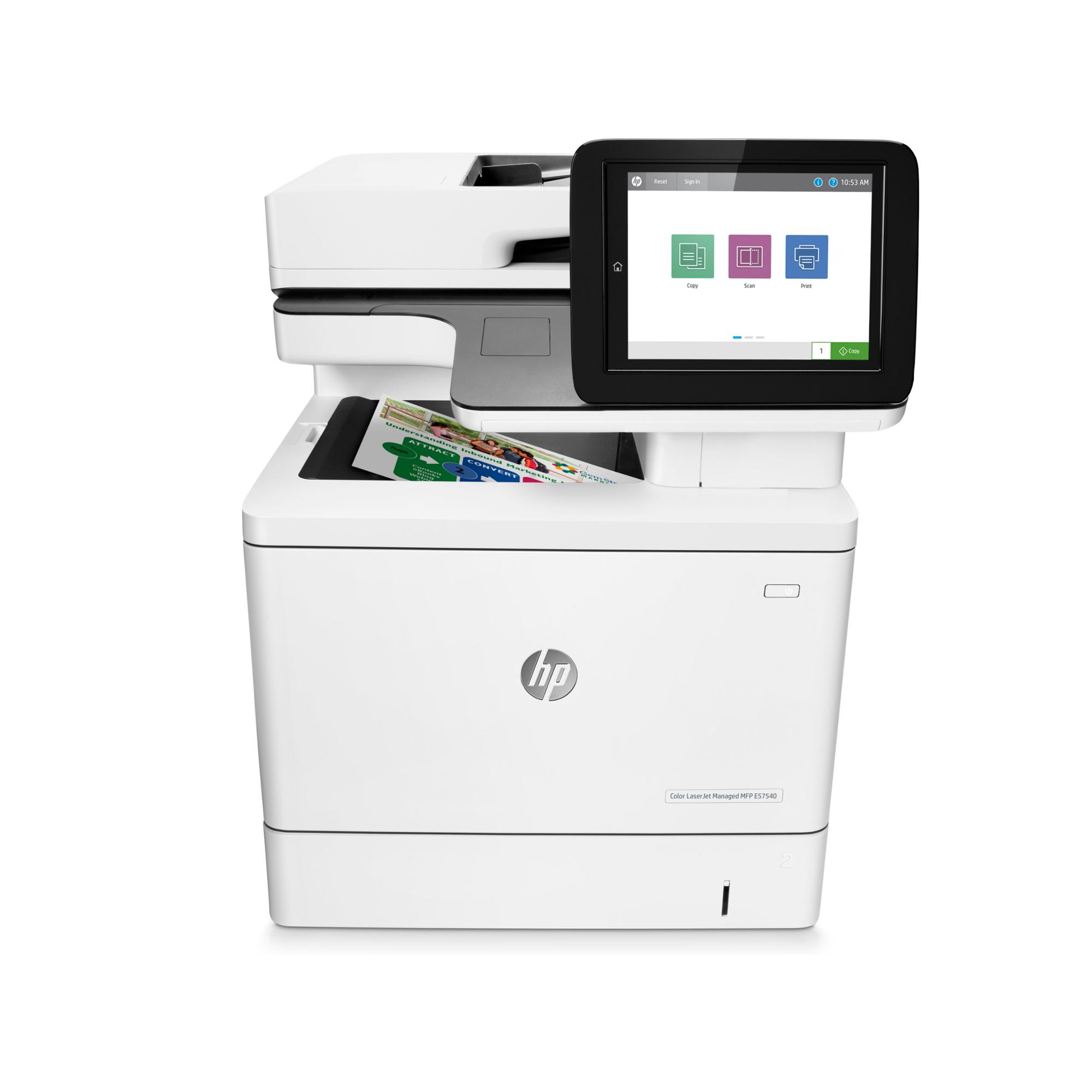 Noleggio Multifunzione HP Color LaserJet Managed MFP E57540dn - Lyreco print services