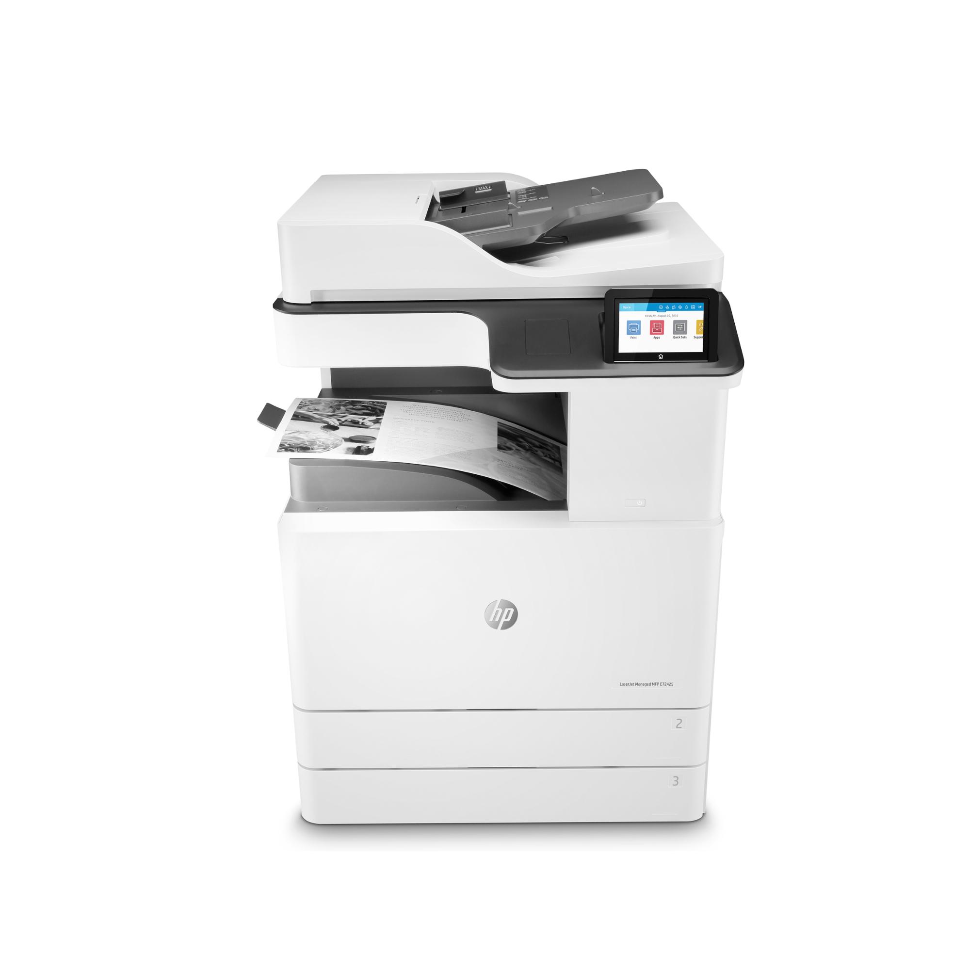 Noleggio Stampante Multifunzione Managed HP LaserJet E72425dv - Lyreco print services