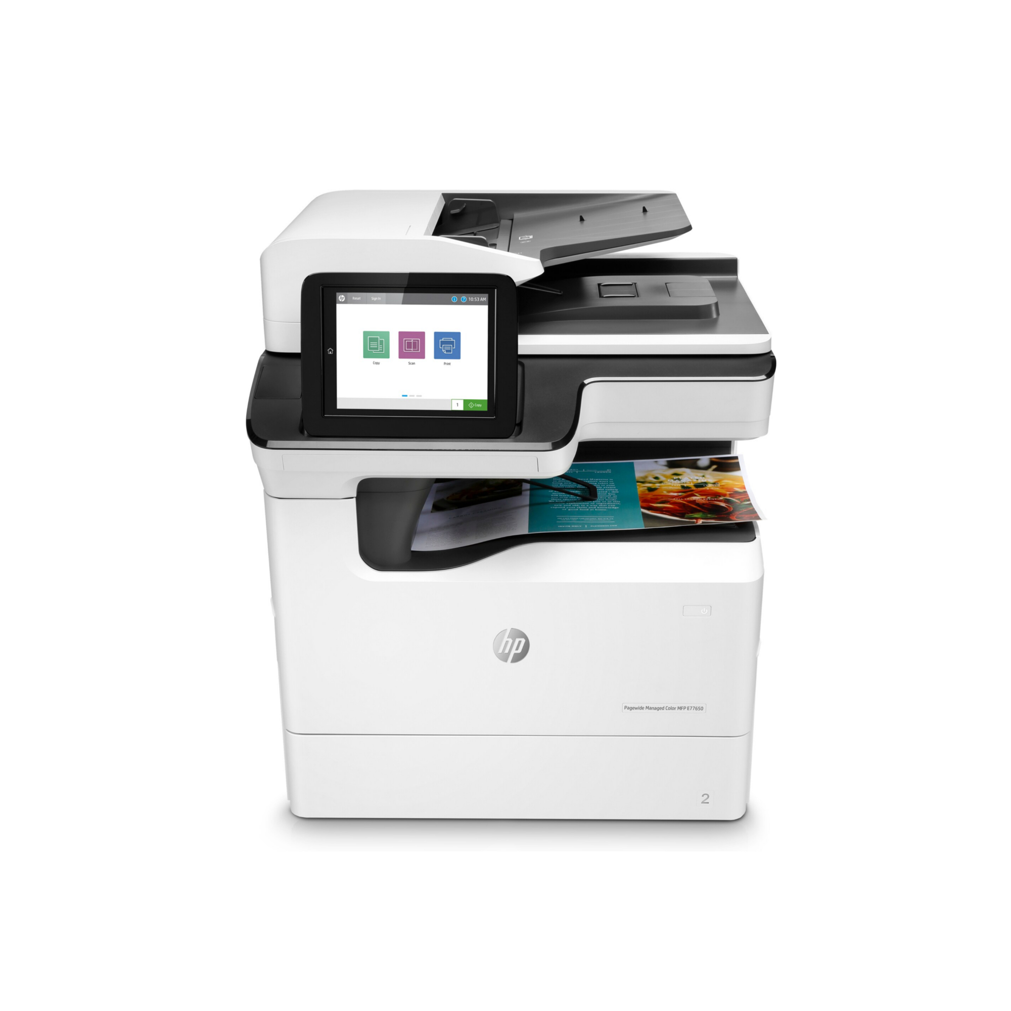 Noleggio Multifunzione HP PageWide Managed Color Flow E77650dz - Lyreco print services