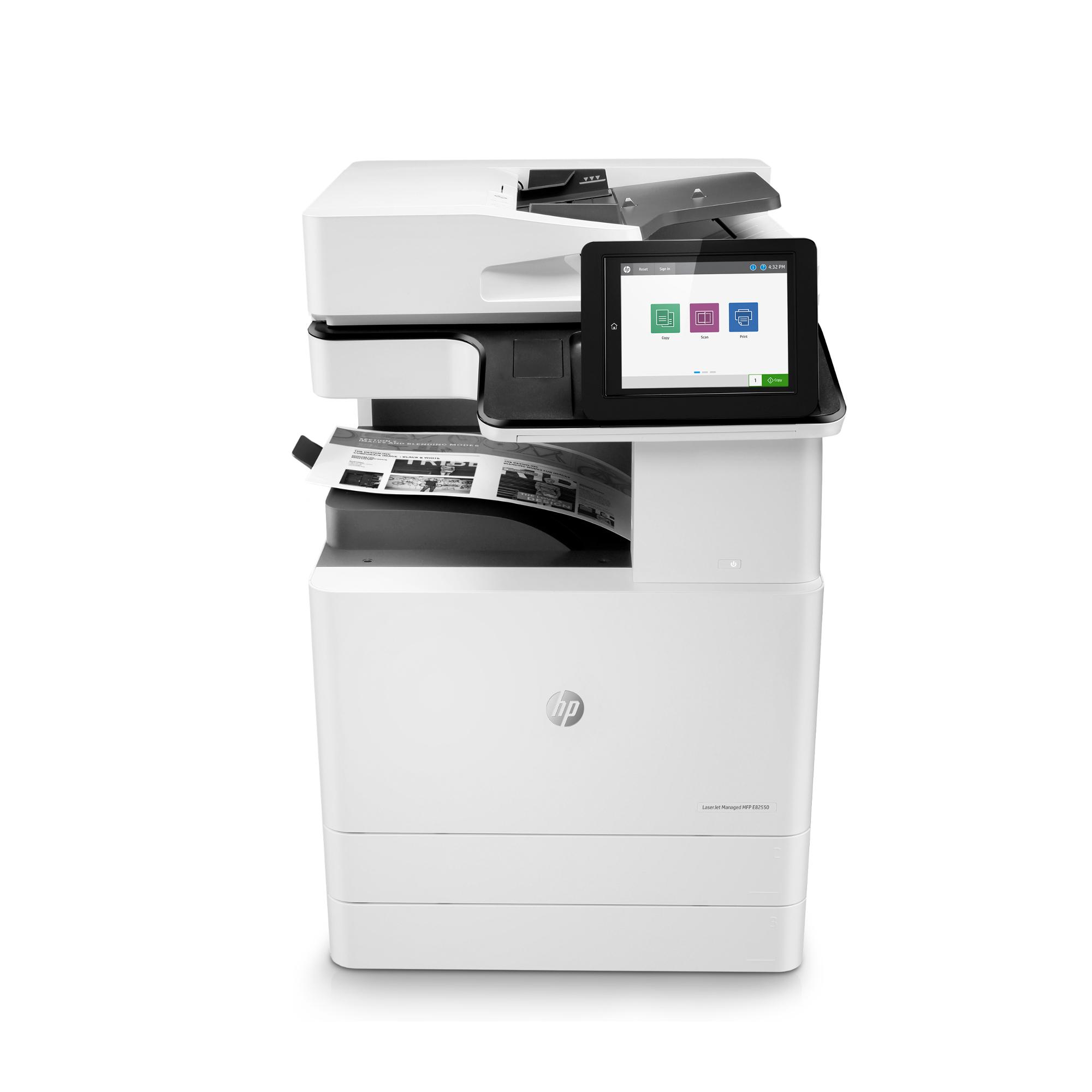 Noleggio Stampante Multifunzione HP LaserJet Managed E82550du - Lyreco print services