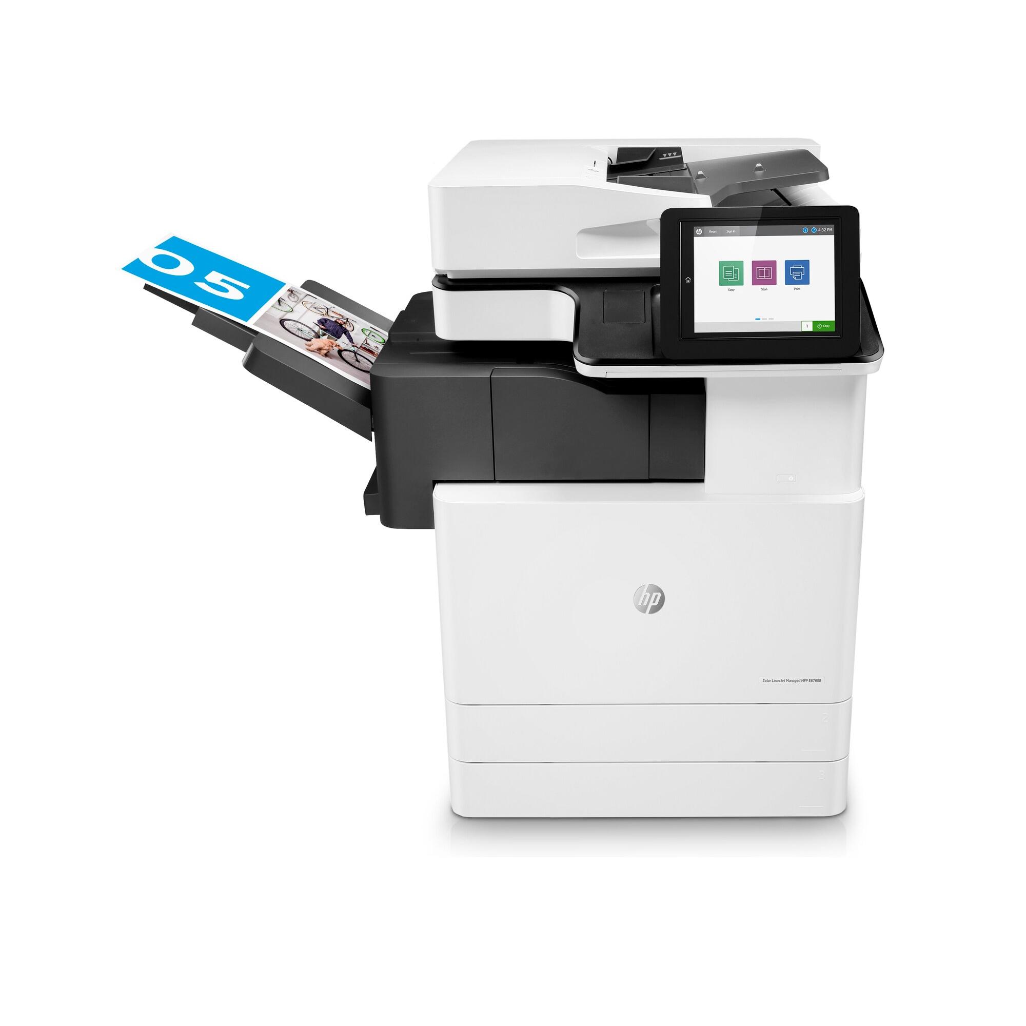 Noleggio Stampante Multifunzione HP LaserJet Managed E87650du - Lyreco print services