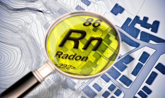 Radon gas radioattivo