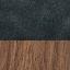Hocker: Nussbaumholz Kissen: Blau