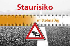 Mäßiges Staurisiko