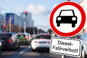 Verkehrszeichen: Diesel-Fahrverbot