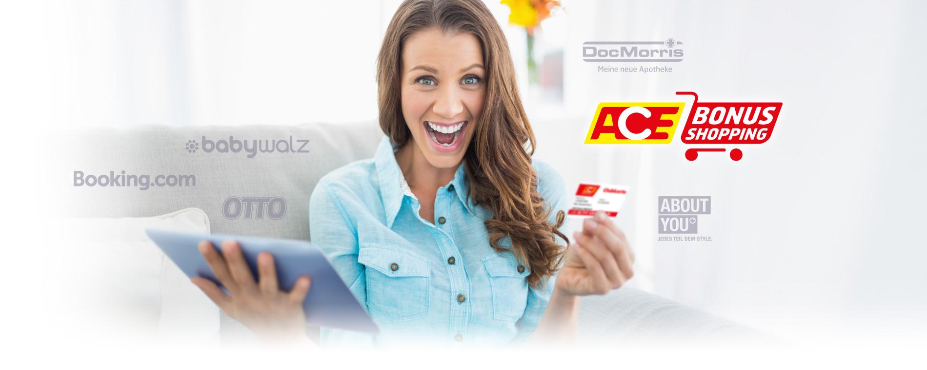 Mit dem ACE-BonusShopping können Mitglieder richtig sparen