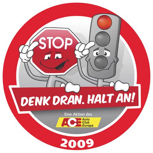 """Logo """"Denk drank. Halt an!"""""""
