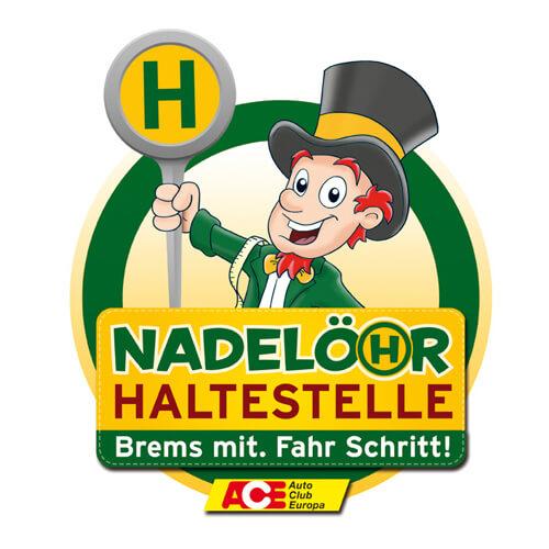 "Logo ""Nadelöhr Haltestelle"""