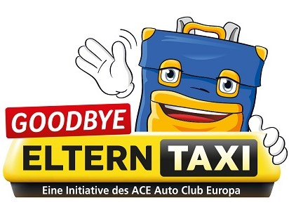 Aktionslogo ACE-Club-Aktion 2019 Goodbye Elterntaxi