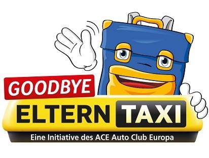 Aktionslogo ACE-Club-Aktion 2019 Goodbye Elterntaxi