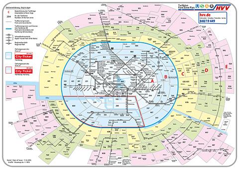 Übersicht der Zonen und Tarife