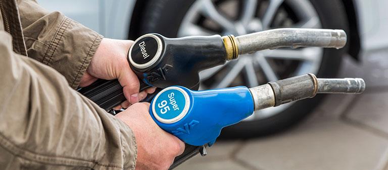 Zapfhähne für Diesel und Super 95