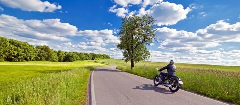 Motorradfahrer bei einer Ausfahrt