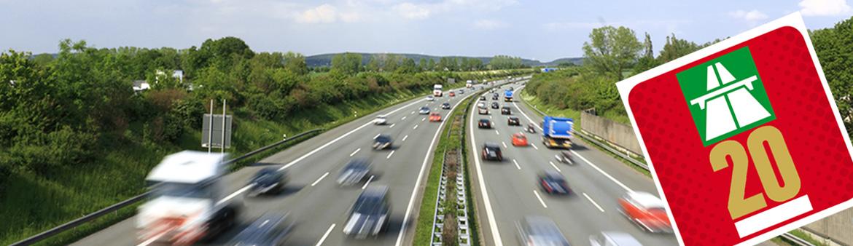 Vignette, im Hintergrund eine Autobahn