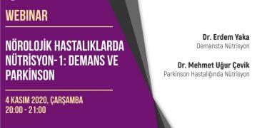 Webinar: Nörolojik Hastalıklarda Nütrisyon – 1: Demans ve Parkinson