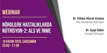 Webinar: Nörolojik Hastalıklarda Nütrisyon – 2: ALS ve İnme