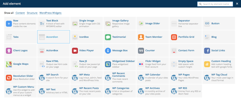 Wordpress Plugin Visual Composer