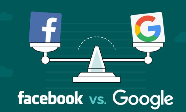 διαφήμιση Google vs Facebook