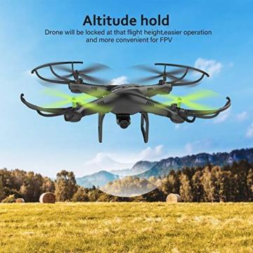 Drone con Telecamera Potensic Quadricottero Telecomando WIFI FPV Dotato delle Funzione Modalita Senza Testa, Manutenzione dell'altitudine, Pianificazione delle Rotta di Volo, Adatto a Principianti - 2
