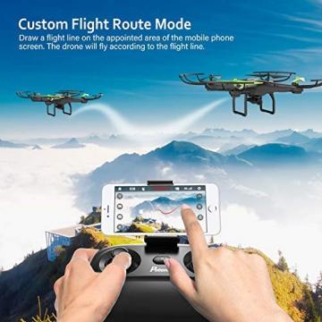 Drone con Telecamera Potensic Quadricottero Telecomando WIFI FPV Dotato delle Funzione Modalita Senza Testa, Manutenzione dell'altitudine, Pianificazione delle Rotta di Volo, Adatto a Principianti - 3