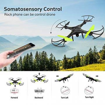Drone con Telecamera Potensic Quadricottero Telecomando WIFI FPV Dotato delle Funzione Modalita Senza Testa, Manutenzione dell'altitudine, Pianificazione delle Rotta di Volo, Adatto a Principianti - 4