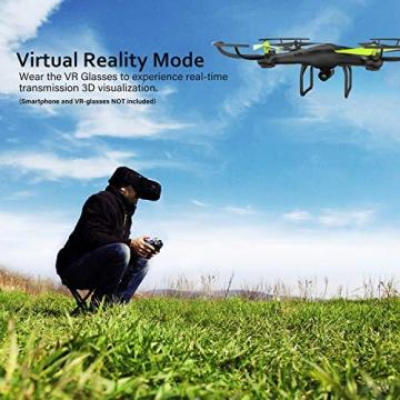 Drone con Telecamera Potensic Quadricottero Telecomando WIFI FPV Dotato delle Funzione Modalita Senza Testa, Manutenzione dell'altitudine, Pianificazione delle Rotta di Volo, Adatto a Principianti - 5
