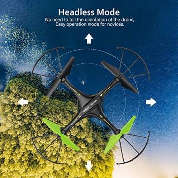 Drone con Telecamera Potensic Quadricottero Telecomando WIFI FPV Dotato delle Funzione Modalita Senza Testa, Manutenzione dell'altitudine, Pianificazione delle Rotta di Volo, Adatto a Principianti - 7