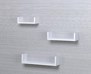 001Harmony Set di 3mensole da parete, sospese, bianche - 2