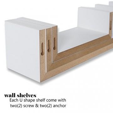 001Harmony Set di 3mensole da parete, sospese, bianche - 3