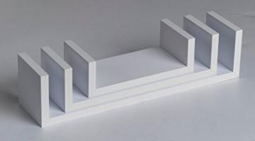 001Harmony Set di 3mensole da parete, sospese, bianche - 4