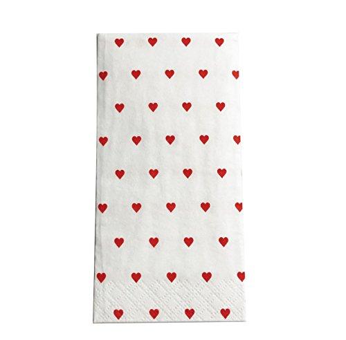 100Cuore di fazzoletti per lacrime di gioia sul matrimonio (100) - 1