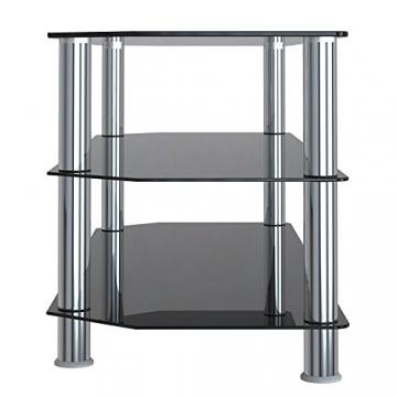 """1home Mobile Porta TV di Vetro Nero per LCD LED e Plasma TV da 32"""" a 60"""" GT4 - 5"""