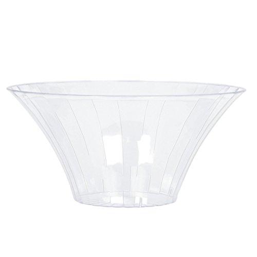 2 x Contenitori Per Confetti e Caramelle Ciotola In Plastica Trasparente 23 cm 477882-86 - 1