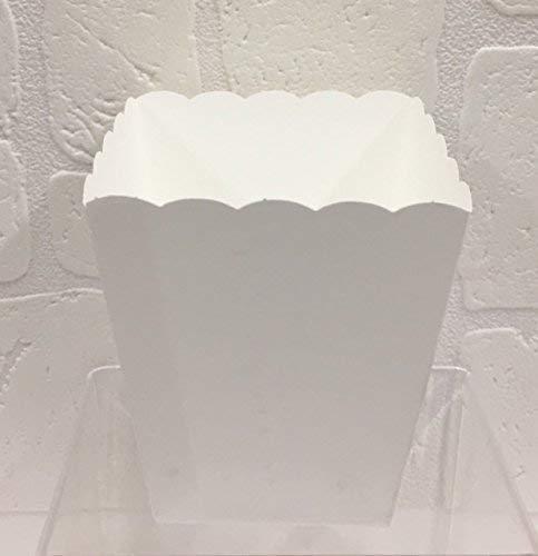 20 PZ Vaso in carta bianco portaconfetti confettata smerlato - 1