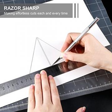 2pcs Cutter di Precisione con 20 Lame di Ricambio, PAMIYO Set Taglierino per Bricolage, Hobbistica, Carta e Auto Vinile, Modellismo, DIY - Tipo 11 - 3
