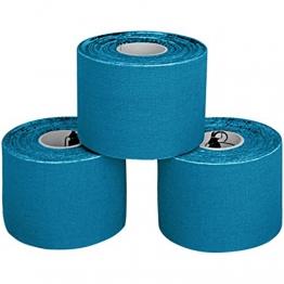 ALPIDEX 3 rotoli di nastro kinesiologico 5 m x 5,0 in varia colori, Colore:blu chiaro - 1