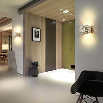 Applique Lampada da Parete LED 5W gesso Lampada da intonaco Design moderno su e giù Apparecchi di illuminazione da parete per interni Forma a sfera rotonda Bianco caldo (Include lampadine G9) - 4